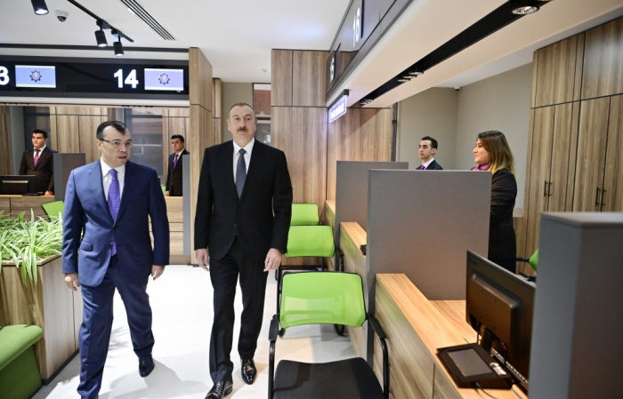 President Ilham Aliyev attends opening of DOST center No2