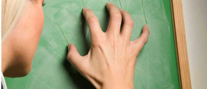 Fingernails on a chalkboard: Why this sound gives you   shivers