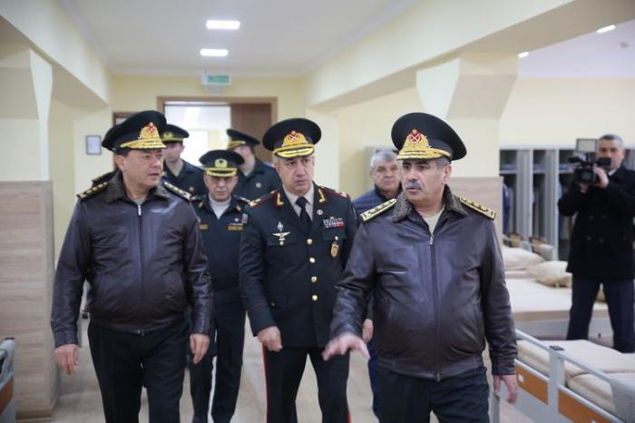 Müdafiə naziri yeni kursant yataqxanasının açılışında - VİDEO