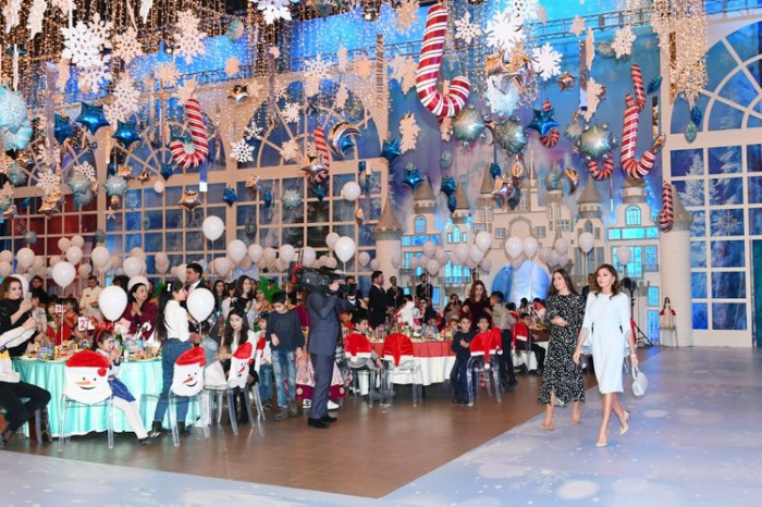 Heydar Aliyev Foundation organizes New Year party for children, First Vice-President attended the event