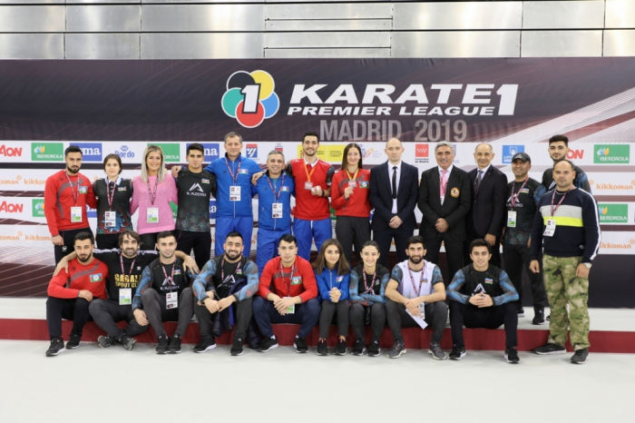 Azerbaijani fighters win two medals at Karate 1 Premier League - Madrid 2019