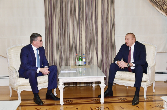 President Ilham Aliyev receives CISCO delegation