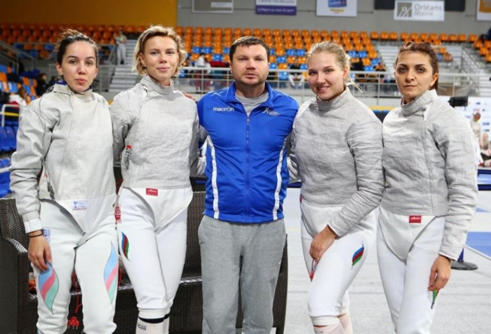 Azerbaijani female fencers vying for medals at World Cup