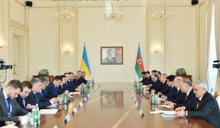 Azerbaijani, Ukrainian presidents held expanded meeting