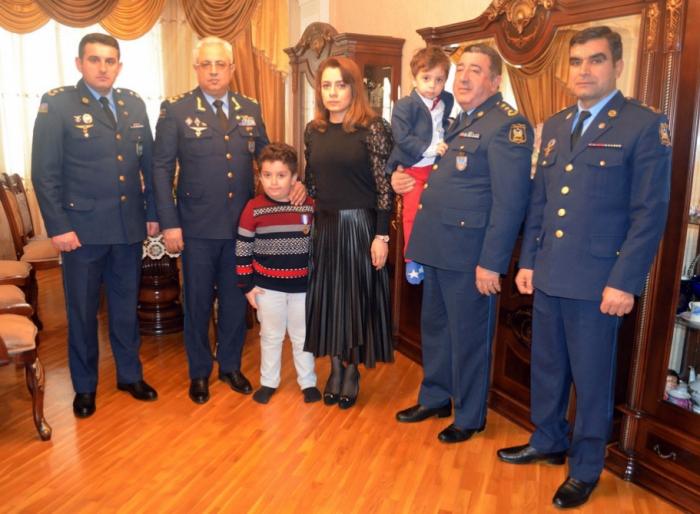 "Medal ""For Courage"" presented to military pilot Rashad Atakishiyev's family"