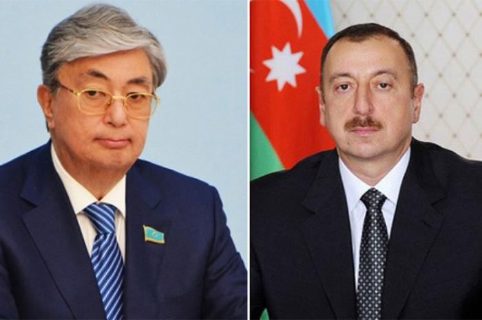 Tokayev Prezidentə zəng etdi - Ad günü təbriki