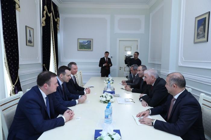 MSK sədri gürcü və ukraynalı həmkarı ilə görüşüb