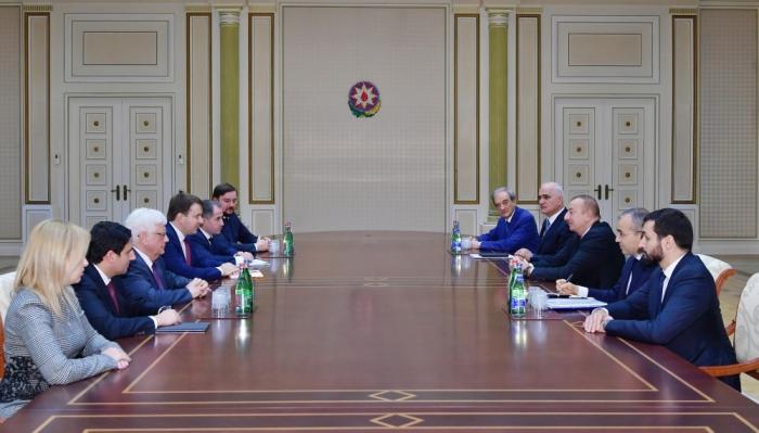 Le président azerbaïdjanais reçoit le ministre russe du Développement économique
