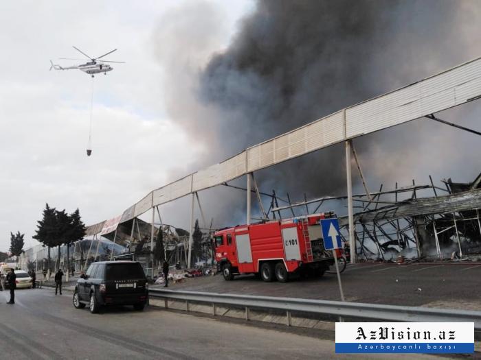 FHN yanğın yerinə 3 helikopter göndərdi - VİDEO