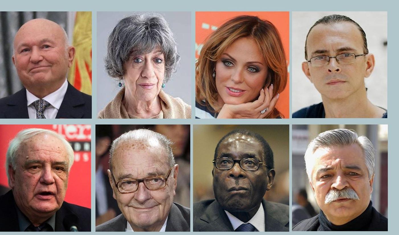 Bu il vəfat edən dünya məşhurları: Siyahıda eks-prezident, aktyor, müğənnilər də var - FOTOLAR