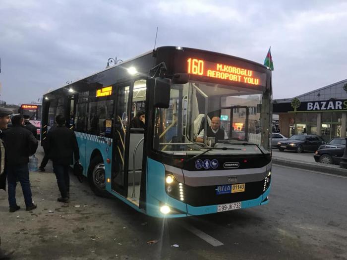 Bakıya gətirilən yeni avtobuslar işə başladı - FOTO