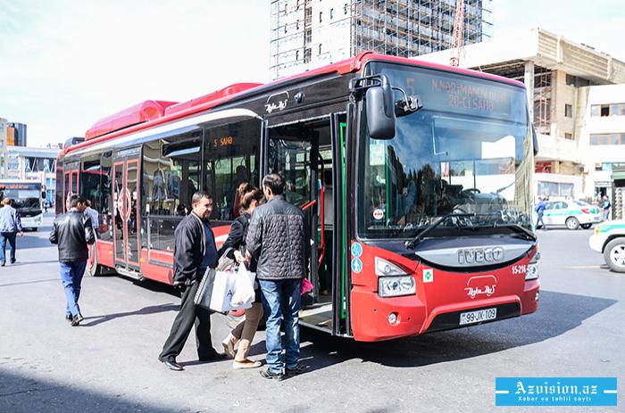 Yeni il gecəsi avtobuslar saat 01.00-dək işləyəcək