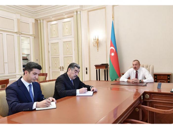 President Ilham Aliyev receives newly appointed Hajigabul, Naftalan executives