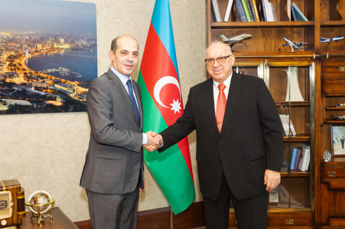 Azerbaijan Airlines president, Jordan's ambassador mull launch of new flight