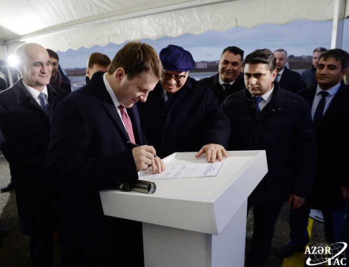 Foundation stone laid for Helicopter Service and Repair Center in Azerbaijan