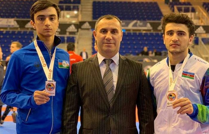 Üç karateçimiz İtaliyada medal qazandı