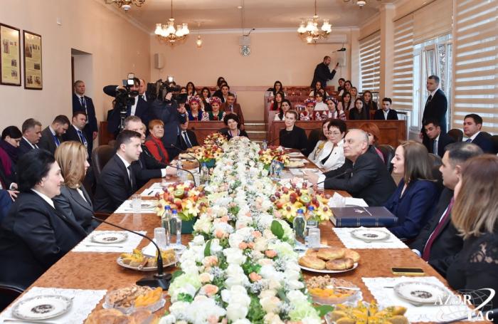 President Volodymyr Zelensky visits Ukrainian Cultural and Educational Center at Baku Slavic University