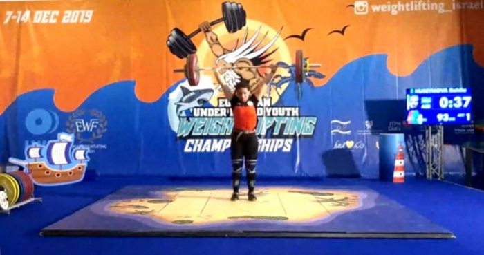 Azerbaijani female weightlifter takes two medals at European championships