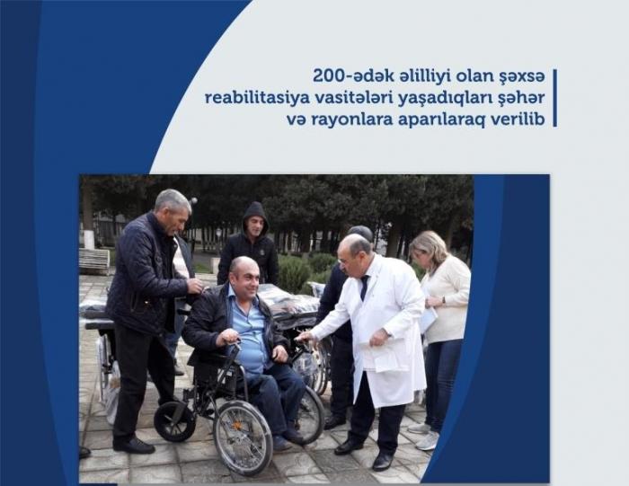 200-dək əlilə reabilitasiya vasitəsi verilib