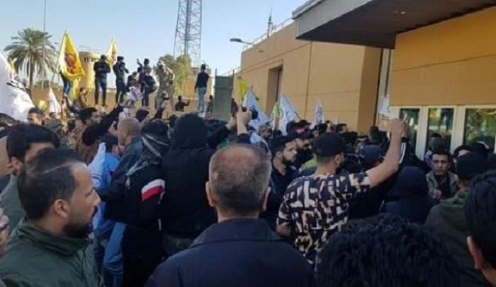 İraqda etirazçılar ABŞ səfirliyini ələ keçirib - FOTOLAR+VİDEO