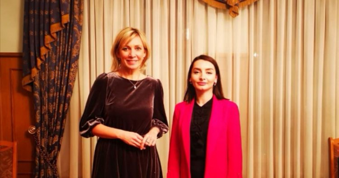 Leyla Abdullayeva Zaxarova ilə məsləhətləşmələr apardı - FOTO