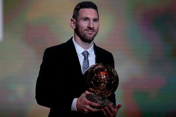 Lionel Messi beats Virgil van Dijk and Cristiano Ronaldo to win record sixth trophy