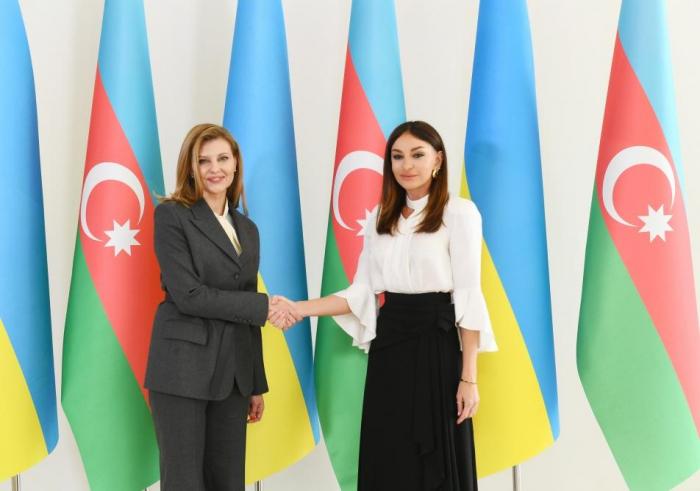 Mehriban Aliyeva trifft sich mit Elena Zelenskaya