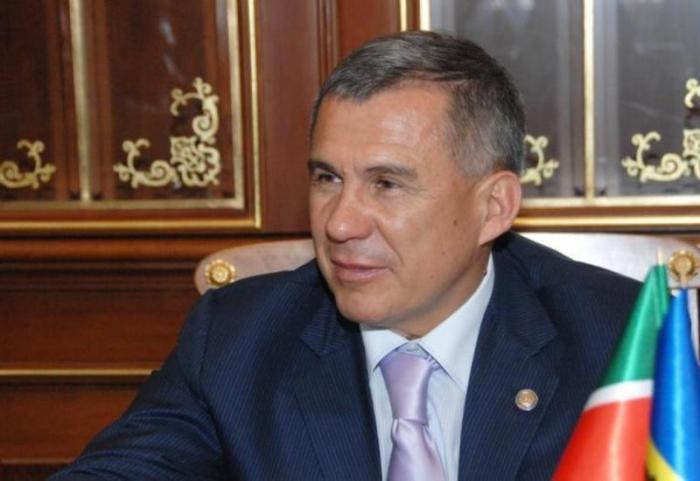 Rüstəm Minnixanov Prezidenti təbrik edib