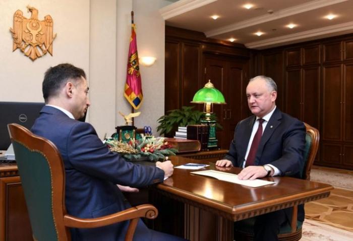 Moldovan President Igor Dodon received Azerbaijani Ambassador