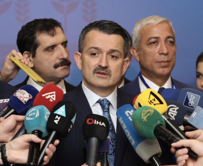 """Bekir Pakdemirli: """"Turquía, Azerbaiyán y Georgia organizarán exportaciones conjuntas de avellanas"""""""