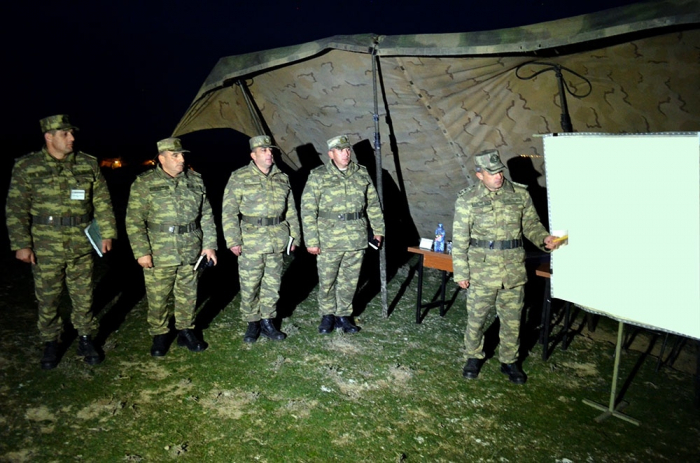 Azerbaijani Army conducts night combat firing