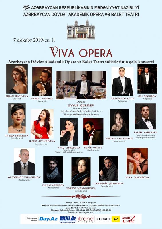 Opera solistlərinin qala-konserti keçiriləcək