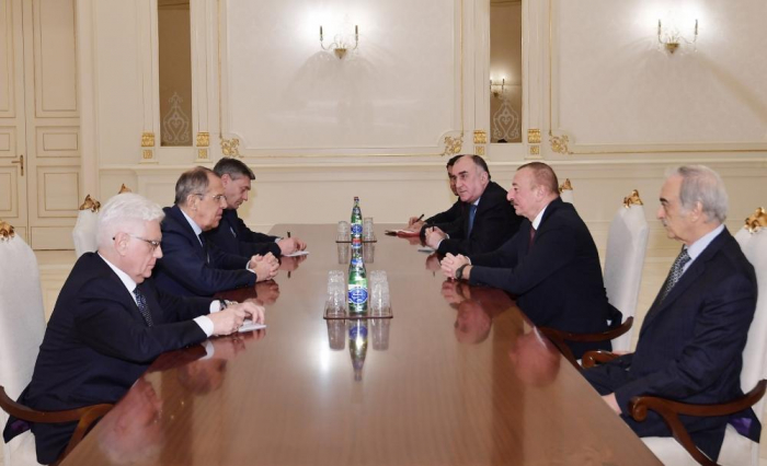 President Ilham Aliyev receives Russian foreign minister Lavrov