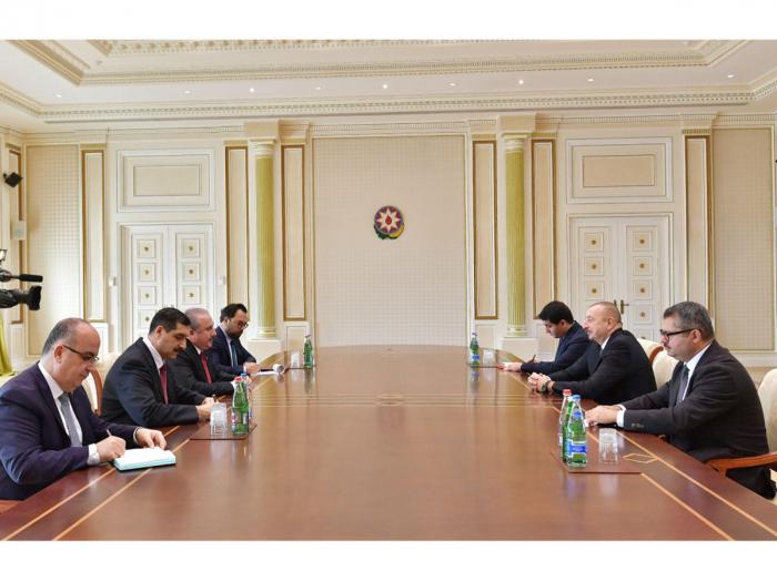 President Ilham Aliyev receives speaker of Turkey