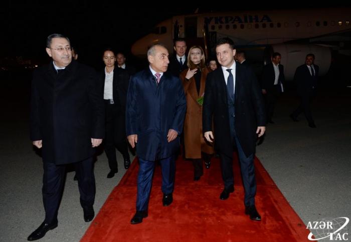 Ukrainian president arrives in Azerbaijan on official visit