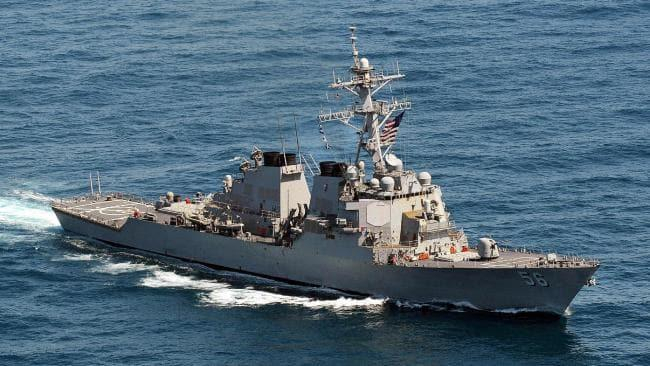U.S. Navy warship seized missile parts suspected to be linked to Iran
