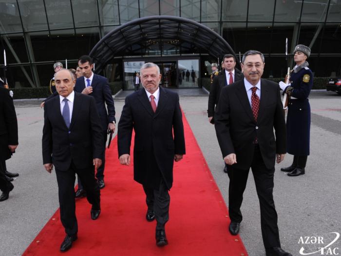 Jordaniens König Abdullah II. Ibn al-Hussein beendet seinen Besuch in Aserbaidschan