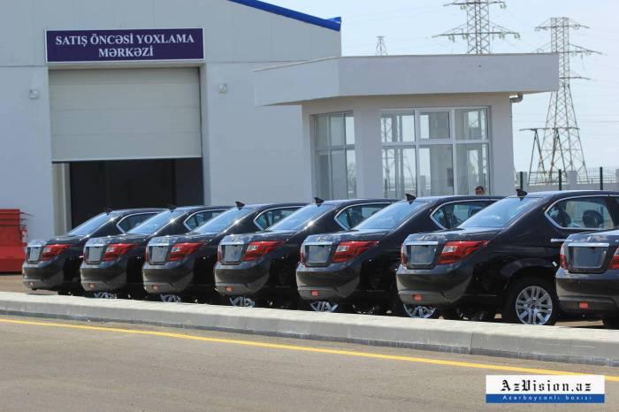Ötən ay 192 minik avtomobili istehsal edilib