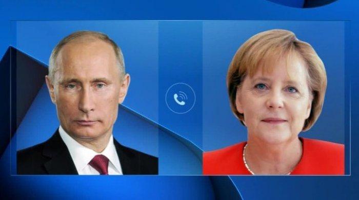 Putin və Merkel telefonla danışıqlar aparıb