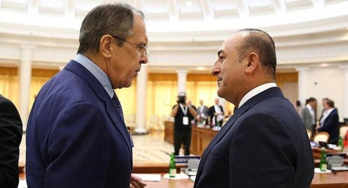 Çavuşoğlu ilə Lavrov Suriyanı müzakirə edib