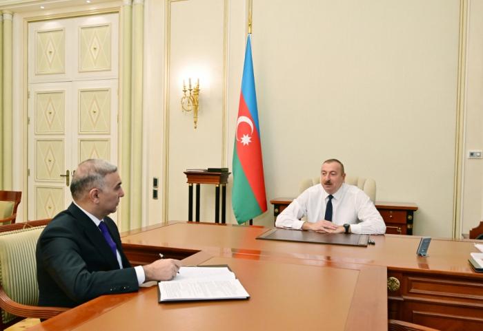 """Prezident """"Azərişıq"""" ASC-nin yeni sədrini qəbul edib"""