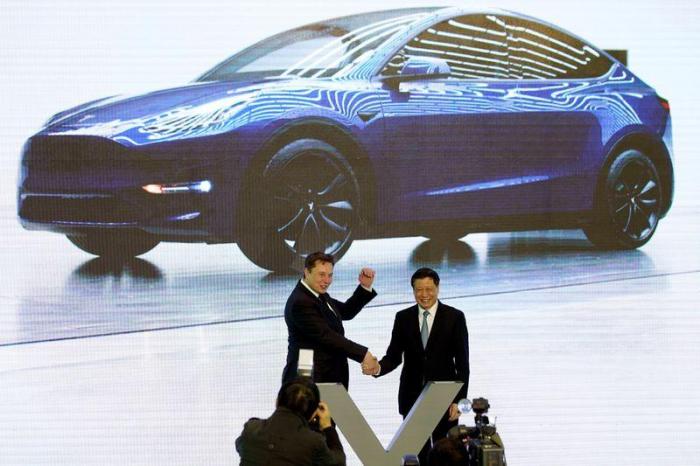 Tesla starts work on building Model Y SUVs at Shanghai factory