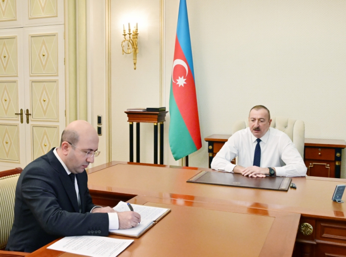 President Ilham Aliyev receives newly-appointed chairman of State Committee for Urban Planning and Architecture