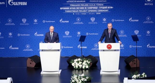 Türkische und russische Präsidenten eröffnen TurkStream-Projekt