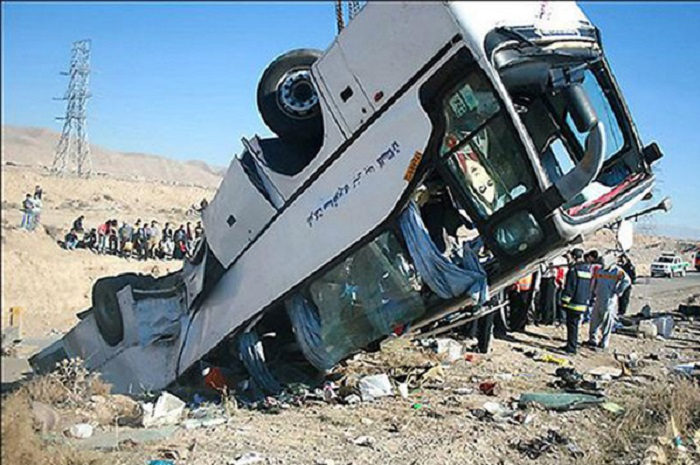 20 killed, over dozen wounded   in bus accident in northern Iran