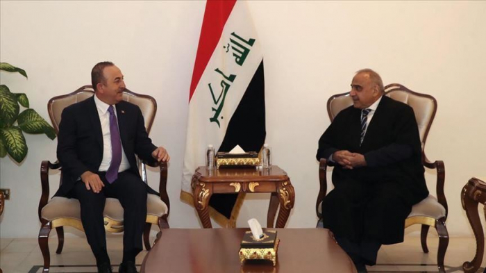 Turkish foreign minister meets Iraqi premier in Baghdad