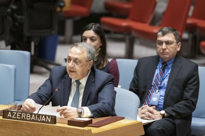 Representante Permanente de Azerbaiyán ante ONU sobre la agresión armenia contra Azerbaiyán