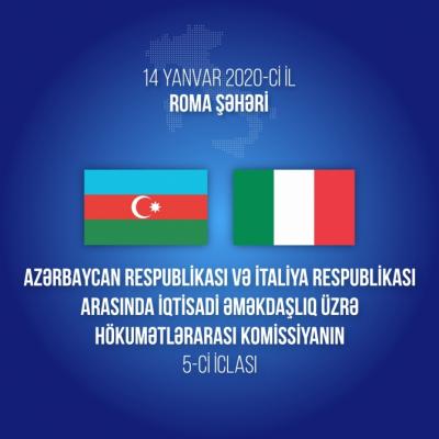 5ª reunión de la Comisión Intergubernamental de Cooperación Económica de Azerbaiyán e Italia se celebrará en Roma
