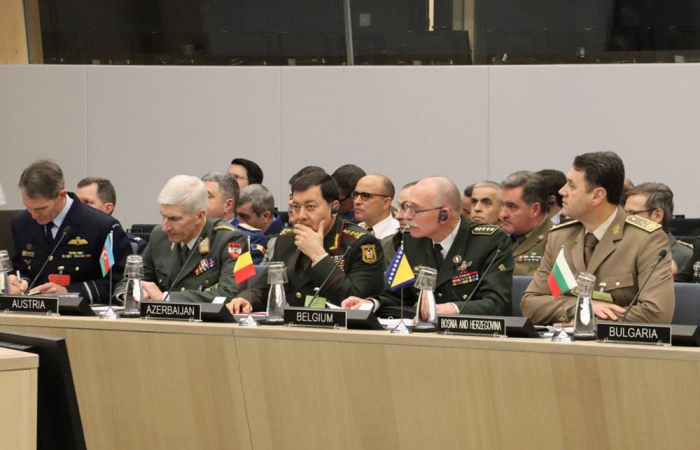Chief of General Staff of Azerbaijani Armed Forces Azerbaijan takes part in meeting at NATO Headquarters