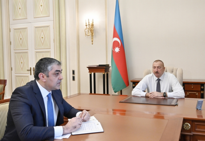 Präsident Ilham Aliyev:   Im vorigen Jahr in Aserbaidschan 1300 Kilometer lange Straße gebaut